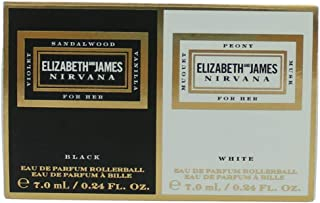 Elizabeth and James Nirvana Perfume Black & White Rollerball Duo New