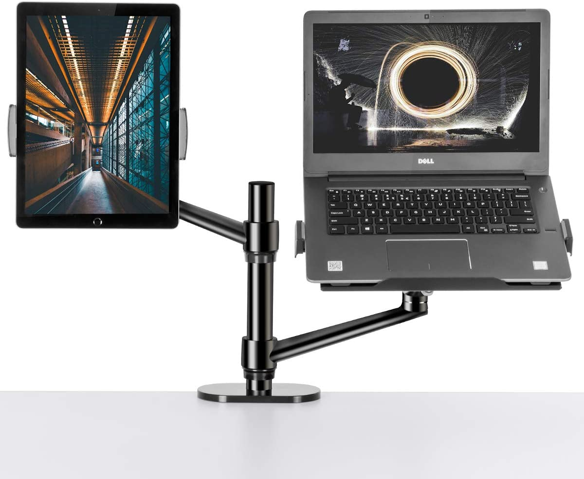 Monitor and Laptop Stand,3-in-1 Adjustable Monitor and Laptop Mount for 17~32 inch Monitor,11~17.2inch Laptop,7~14inch Tablet