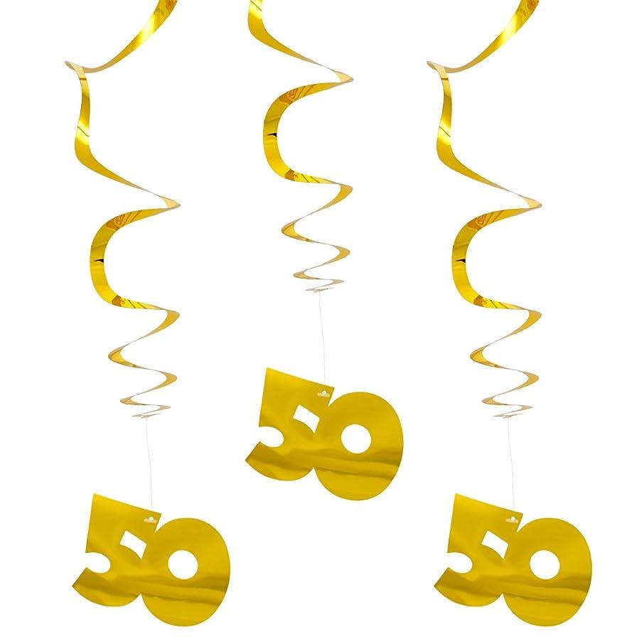 3?Hanging Spirals Gold 50