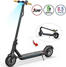 TOMOLOO Electric Scooter with Foldable Design, 18.6 Miles Long-Range, Up to 15.5 MPH, Portable and Foldable E-Scooter with 8.5