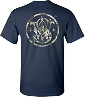 Smith & Wesson Original Circle Logo Back Print Tee - Officially Licensed