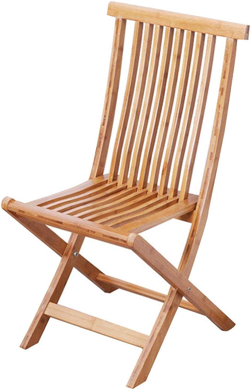 DQMSB Folding Portable Bamboo Chair Solid Bamboo Sofa Chair Back Chair Beach Chair Recliner Chair (Size   35  58cm)