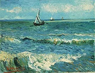 Gogh Vincent van Seascape at Saintes Maries 1 100% Hand Painted Oil Paintings Reproductions 24X36 Inch