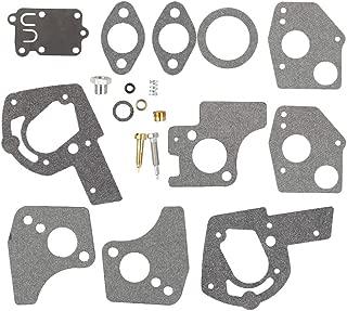 Mannial Carburetor Overhaul Repair Rebuild Kit fit Briggs & Stratton 495606 494624 Pulsa Jet Carb 80200 81200 82200 112200 130200 133200 135200 136200 3 Thru 5 HP Horizontal Engines
