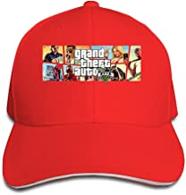 ACMIRAN Grand Theft Auto Funny Sandwich Peaked Cap One Size Black