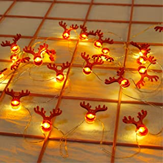 SmartSee 20LED Christmas String Lights, Santa Claus Snowflake Tree LED String Lights Battery Operated Decorative Lights fo...