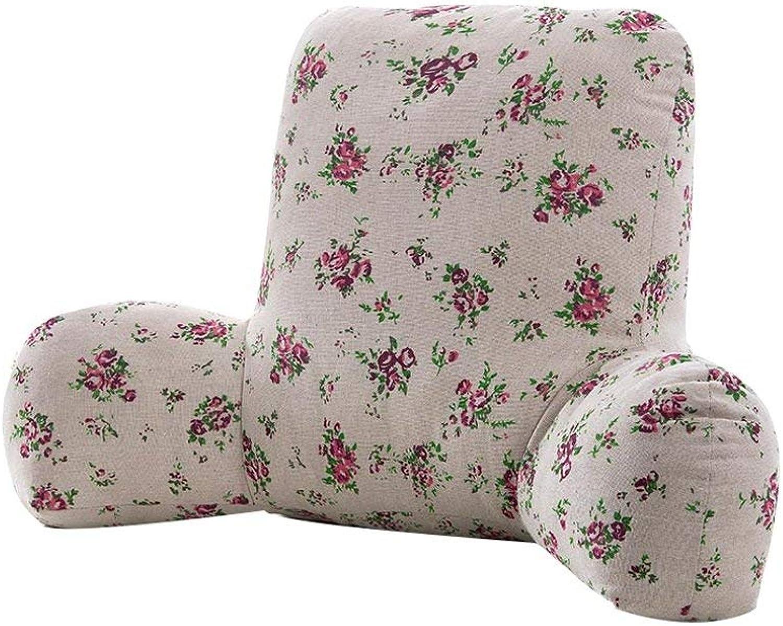 Seat Cushion Sofa Bed Head Soft Bag Large Back Pad, Office Chair Waist Pad Cushion Chair Pad (color   8 , Size   53cm)