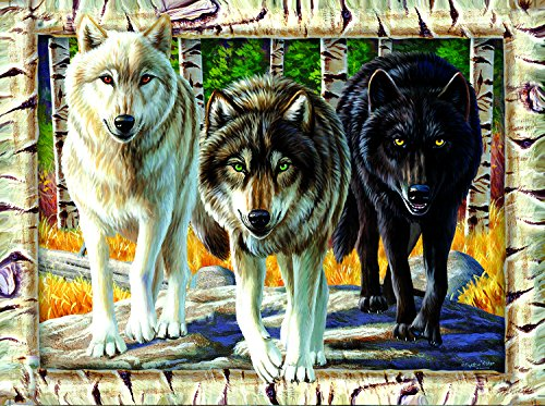 Wolf Pack Colors 1000 Pc Jigsaw Puzzle by SunsOut