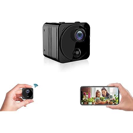 超小型カメラ 隠しカメラ 4K画質 WiFiスマホで見れる 180日待機 15時間 長時間録画 録音 160°広角 動体検知 充電式 リアルタイム遠隔防犯カメラ 監視カメラ ペットカメラ スパイカメラ 盗撮カメラ 玄関カメラ 室内カメラ 暗視カメラ 猫/犬/子供/高齢者見守りカメラ ネットワークカメラ WIFIカメラ ワイヤレスカメラ ELEPRO R8+