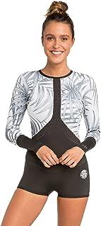 Rip Curl Womens Madi 1mm Long Sleeve Boyleg Shorty Wetsuit Off White - Easy Stretch - Back Zip Entry - 100% E4 Neoprene. 1mm