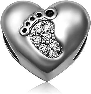 footprint charm pandora