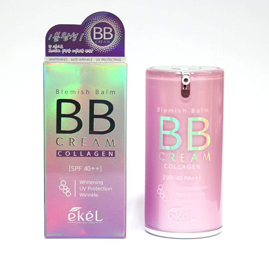 デザイナー半径質量[EKEL] ブレミッシュバームコラーゲンBBクリーム50g / Blemish Balm Collagen BB Cream 50g /ホワイトニング、UV保護、しわ / whitening, uv protection, wrinkle / 23号ナチュラルベージュ / No.23 natural beige / 韓国化粧品 / Korea Cosmetics [並行輸入品]