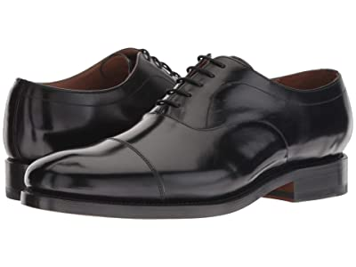 Bostonian Rhodes Cap (Black Leather) Men