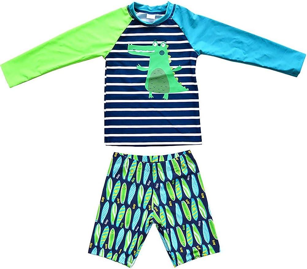Achiyi wholesale Baby Boys Kids 2Pcs Long Gu Dinosaur Rash Swimsuit Sleeve Sacramento Mall