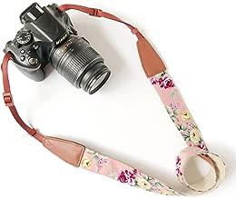 Camera Neck Shoulder Belt Strap,Alled Leather Vintage Print Soft Camera Straps for..