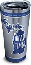 Tervis 1324059 NCAA Michigan State Spartans Outline Stainless Steel Insulated Tumbler with Lid, 20 oz, Silver