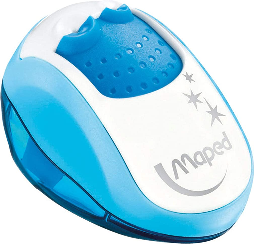 Maped Clean 2 Hole Pencil Sharpener, Assorted Colors (030249)