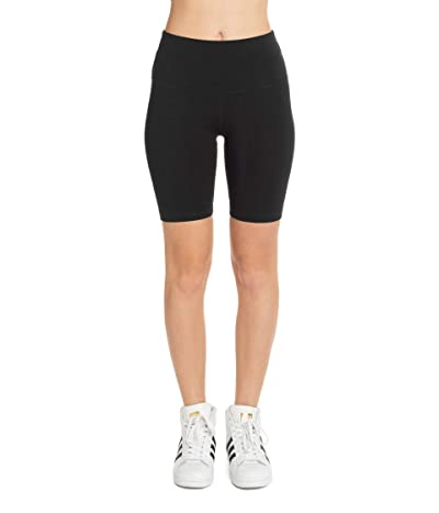 Hard Tail Flat Waist Bike Shorts (Black) Women