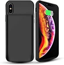 ALCLAP Phone X/XS Battery Case, 6000mAh Phone XS Battery Case Portable Charger Charging Case Compatible Phone X/XS(5.8 inch)-Black