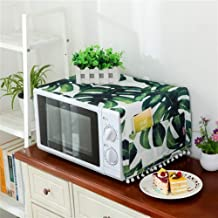 HHYK Bolsa Modelo Planta del Horno microondas Cubierta de Aceite Protector contra el Polvo con Almacenamiento Microondas Polvo Covers Accesorios Cocina de la decoración del hogar