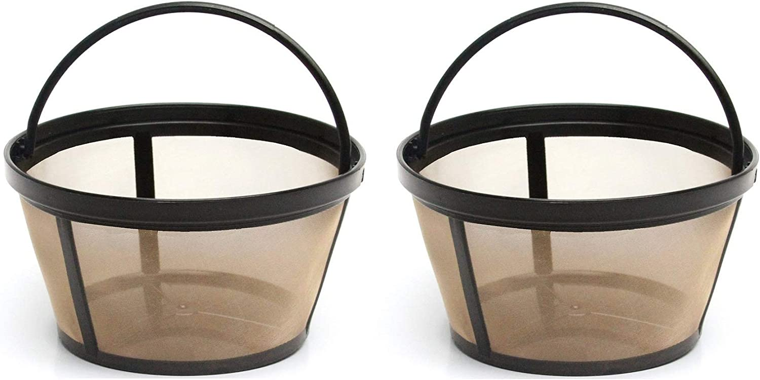 2 Very popular! X Permanent Basket-Style Gold Coffee for Max 75% OFF Tone Filter designed