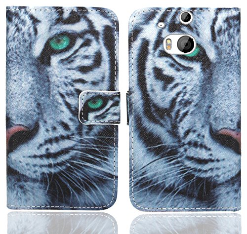 HTC One M8 / M8s Handy Tasche, FoneExpert® Wallet Hülle Flip Cover Hüllen Etui Ledertasche Lederhülle Premium Schutzhülle für HTC One M8 / M8s (Pattern 6)