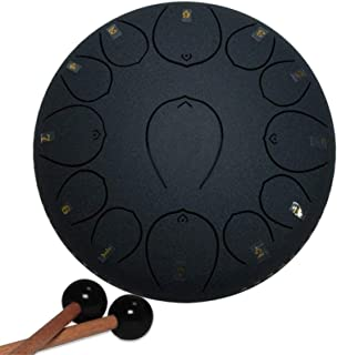 13 Notes 12 Inches Steel Tongue Drums | Percussion Drum | Tank Drum | Lotus Drum | with Mallets for Personal Meditation/Yo...