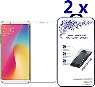 [2-Pack] Oppo F5 Screen Protector, Scratch Resistan HD Clear Tempered Glass Screen Protector for Oppo A73/F5/A73T