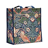 Signare Tapestry Arazzo Borsa a Tracolla Donna, Borse Tote per Donne, Shopping Tote Bag con William Morris Designs (Strawberry Thief Blue)