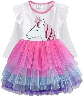 Toddler Flower Girl Dress Winter Long Sleeve Tutu Party Dresses for Girls 3-7 Years