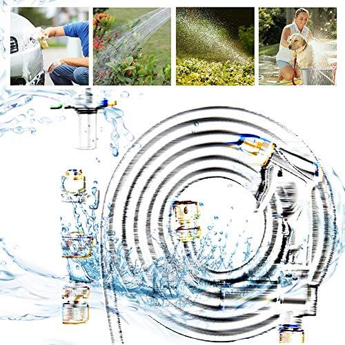 A/S Filtro de Manguera de jardín Lowes Adaptador de Grifo de Pistola de Espuma de Manguera de jardín Pulverizador de Extremo de Manguera de jardín JXHOME (Size : 15m Suit)