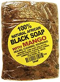 Taha 100% Natural African Black Soap with Mango 5oz