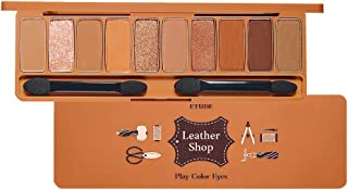 ETUDE HOUSE Play Color Eyes #Leather Shop   10 Luxurious Leather Brown Colors with Shimmer & Glitter Texture   Korean Makeup