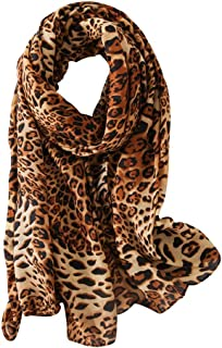 Women's Casual Leopard Print Scarf Oversized Shawl Wraps
