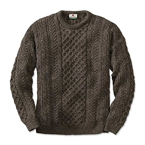 Orvis Black Sheep Irish Fisherman's Sweater Brown