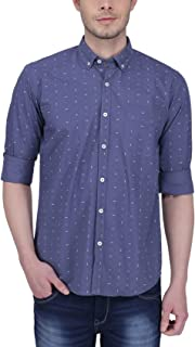 Southbay Blue Cotton Printed Casual Shirt for Men