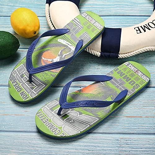 Yumanluo Chanclas de Hombre para la Playa Sandalias Comodo de Verano para Interior o Exterior,Zapatillas cómodas de PE de Dos Colores-C_43
