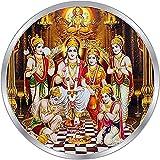Moneda de plata Ram Darbar diseño colorido 999 plata pura 999 moneda de plata pura 10 Gm 999 pack 2