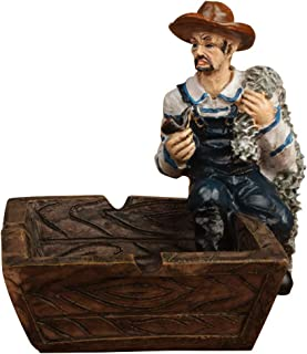 YamaziHD Mediterranean Style Nautical Captain and Sailor Theme Ashtray Ornaments Table Ashtray Cigar Ash Tray Home Decoration Décor Crafts Gifts (Sailor/Net)