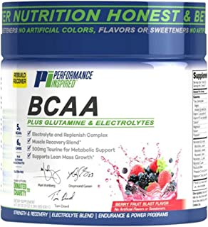 Performance Inspired Nutrition BCAA Plus, 1.39 lb, Berry Fruit Blast; Style #: BCAABFB+