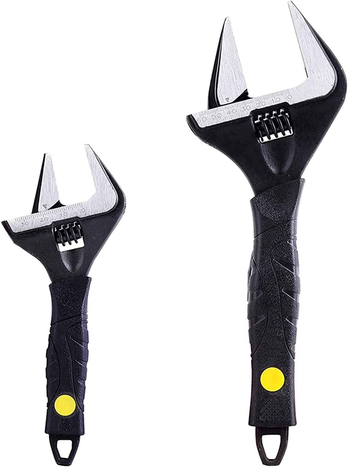 2Pcs 6 12 In Adjustable Wrench Heavy-Du Jaw Deep Opening Year-end gift Popular products Wide