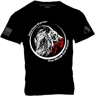 The Weak Get Eaten w Lions Head T-Shirt - American Warrior Collection