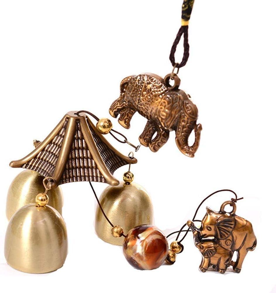 8 trigrammes Elionless Carillon /éolien vintage en m/étal cuivr/é Cloches chinoises Feng Shui D/écoration /à suspendre pour la maison ou le jardin