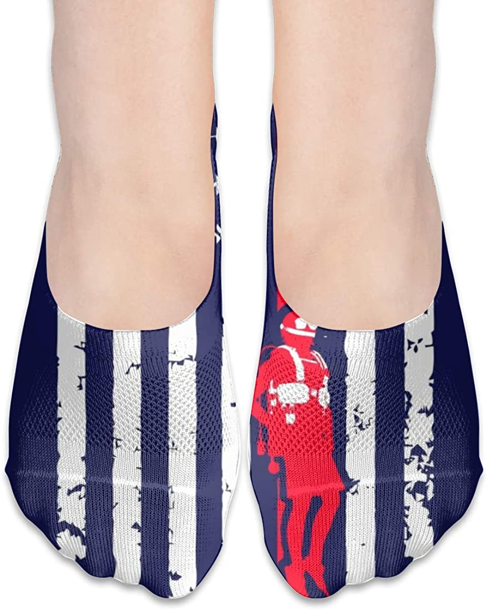 Personalized No Show Socks With Funny Scuba Diving Flag Print For Women Men