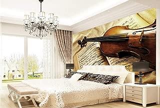 3D Photo Wallpaper Violin Retro European Bedroom Living Room Tv Background Wallpaper for Walls 3 D,300Cm×210Cm