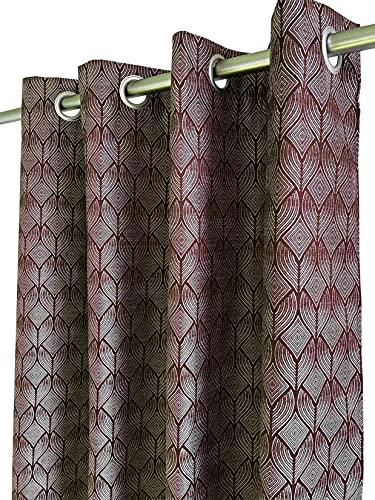 Cortinas de jacquard decorativas, para interior, salón, dormitorio, étnico, elegante, opacas, ligeras, listas para colocar con ojales, 140 x 240 cm, color morado