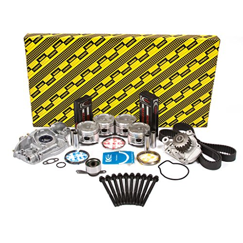 Evergreen OK4028BM/0/0/0 Fits 92-95 Honda Civic Del Sol Vtec 1.6L SOHC D16Z6 Master Overhaul Engine Rebuild Kit