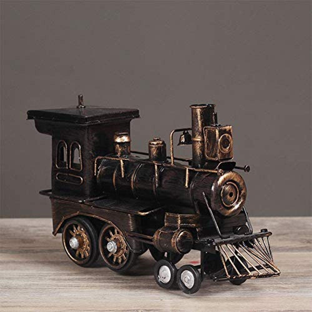 SH-CHEN Decorations Art Craft Retro Train Cafe Locomotive steam Award-winning store Free shipping on posting reviews