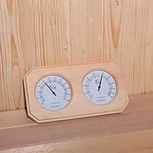 HSTFⓇ Accesorios Sauna de Madera termómetro higrómetro, termómetro de Ambiente preciso Monitor de Humedad-fácil de Leer