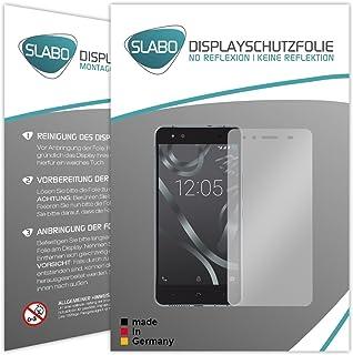 Slabo 2 x displayfolie för BQ Aquaris X5 skärmskyddsfolie tillbehör No Reflexion MATT – Made IN Germany
